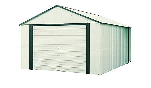 Garaje de acero galvanizado GA 1217-Dim: 371 x 516-PEGANE-x 262 cm ...