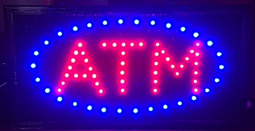 - E Onsale ATM LED Neon Light Open Sign With Animation On/off and Power On/Off two Switchs for Business ATM L86