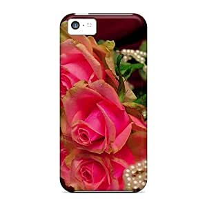 Forever Collectibles Rose Beads Hard Snap-on Case For HTC One M7 Cover Case
