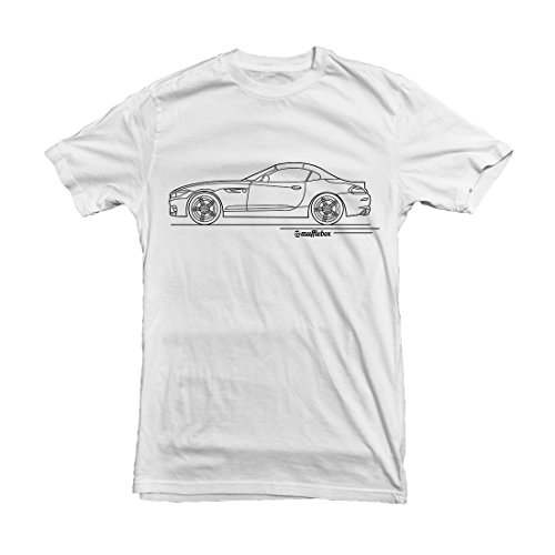 BMW Z4 Car Outline Men's T-shirt, White, S,M,L,XL,XXL White