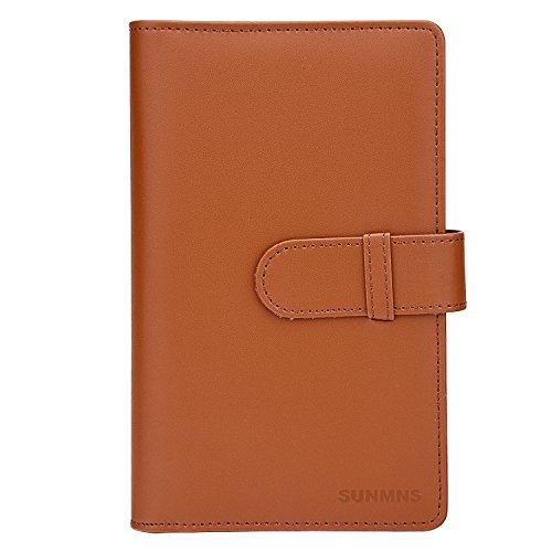 - Sunmns Wallet PU Leather Photo Album for Fujifilm Instax Mini Instant Film (Brown)
