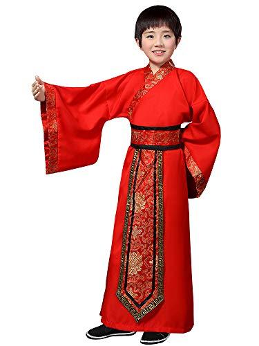 XFentech Chinese Style Hanfu - Boy Swordsman Costume Martial Arts Clothing
