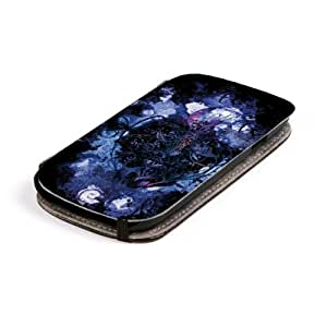 Diabloskinz L0079-0010-0001 Beautiful Flower - Funda para Samsung Galaxy S3, piel, diseño estampado, color morado y negro