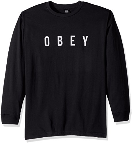 Obey Men's Anyway Long Sleeve Tee, Black, M - Anyway Long Sleeve T-shirt