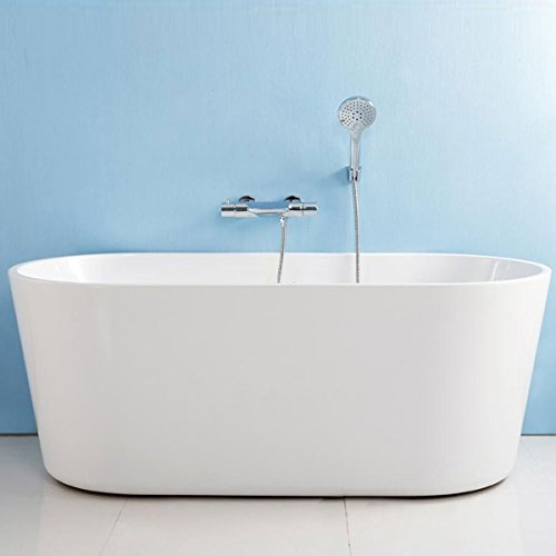D-HTH 62 In Seamless White Acrylic Freestanding Bathtub (AT-96675)
