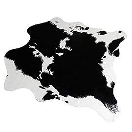 Rutschfester Kuhfell-Teppich – Kunstfell – 140x160cm