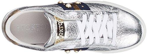 Sneaker Multicolor para Zapatillas Gold Stokton Mujer Blu Silver ROIdEq