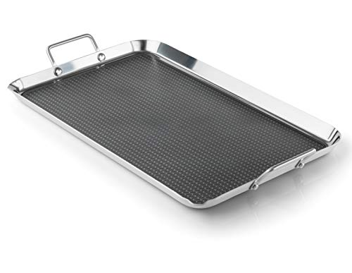 GSI Outdoors Gourmet Griddle Non-Stick and Easy-to-Clean Two Burner Stove Griddle