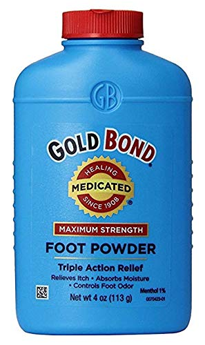 Powder Bond Foot Gold (Gold Bond Foot Powder Medicated 4 Ounce (118ml) (2 Pack))