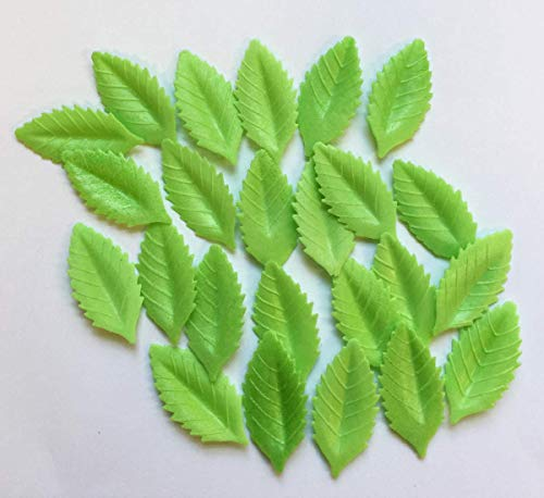 - 24 Green Leaves- Beautiful Edible Cake Decorations