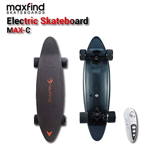 maxfind MAX C Mini Electric Skateboard,500W Motor, 14 MPH Max Speed, up to 8Mile Range Compact Electric Cruiser…