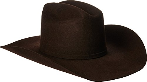 Ariat Men's Wool 3 Piece Buckle SS Hat, Chocolate, 7 1/8 (Brown Felt Hat Cowboy)