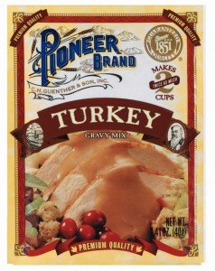 Pioneer Brand Gravy Mix Packets - Makes 2 Cups (Pack of 12) (Turkey) (Turkey Gravy Packets)