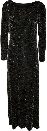 Fashion 4 Less - Robe -  - Midi - Manches longues Femme Noir Noir -  Noir - Noir - Taille M/L