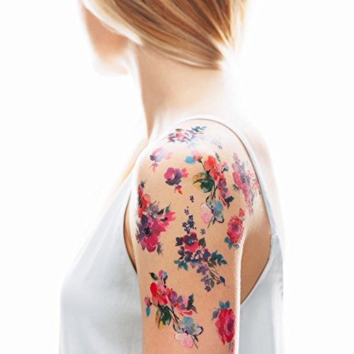 Tattly Temporary Tattoos Watercolor Florals Sheets