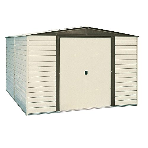(Arrow Dallas 10 ft. x 8 ft. Vinyl-Coated Steel Storage Shed with Floor Kit)
