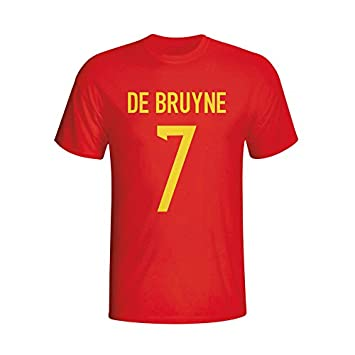 UKSoccershop Kevin De Bruyne Belgium Hero T-shirt (red) - Kids   Amazon.co.uk  Sports   Outdoors 71baf6313