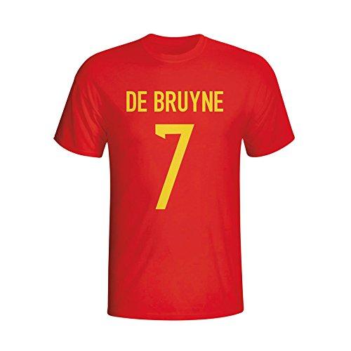 check out b11b1 441fe UKSoccershop Kevin De Bruyne Belgium Hero T-shirt (red ...