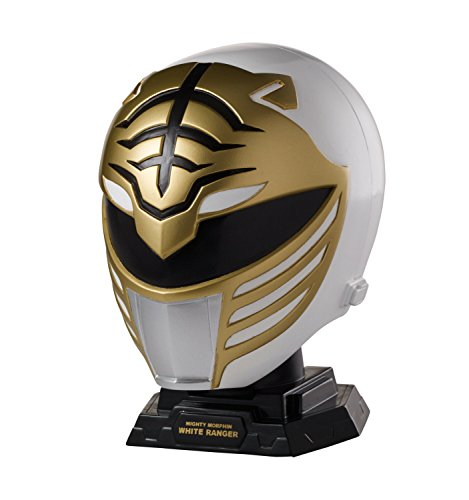 Power Rangers Legacy Mighty Morphin White Ranger Helmet Display -