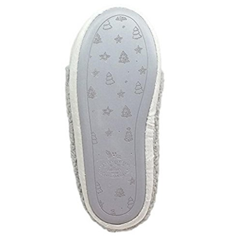 Slip Hommes Femmes Chaussons Chaussons Chaussons Dérapant on Anti Coton et grey Pantoufles WDGT Peluche d'intérieur Femmes nO0WvxnF