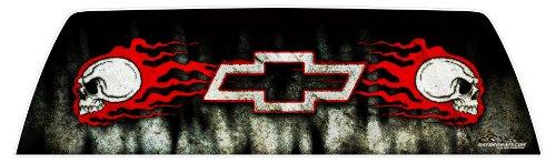 GATORWRAPS - Chevy Skulls Window Graphic -