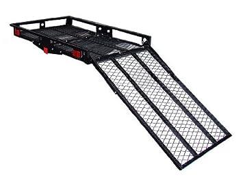 Remolque TMS T-WCR-2849 resistente con rampa de carga y antivuelco, soporta hasta 227 kg, para sillas de ruedas, scooters de movilidad: Amazon.es: Coche y ...