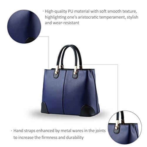 NICOLE&DORIS nuevas mujeres del bolso bolsos de moda mensajero -Schulterbeutel las mujeres del bolso del monedero(Black) Sapphire