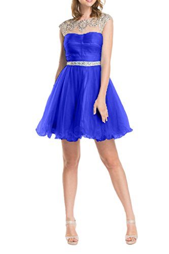 fuer La Kurz mia Royal Feiernkleider Abiballkleider Romantisch Geburtstag Partykleider Blau Tuell Abendkleider Braut qrgz6Cqw