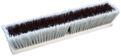Zephyr 39524 Combo/Strand Push Broom, 24'' Head Width, Red and Grey (Case of 12) by Zephyr