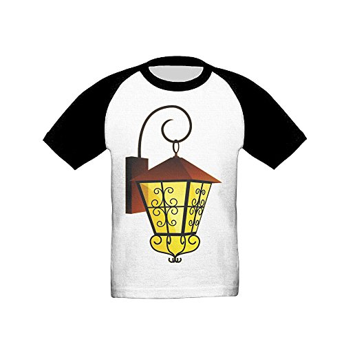 Price comparison product image Ramadan Black Boys And Girls Raglan Short Sleeve Kids Cute T Shirt For Toddler