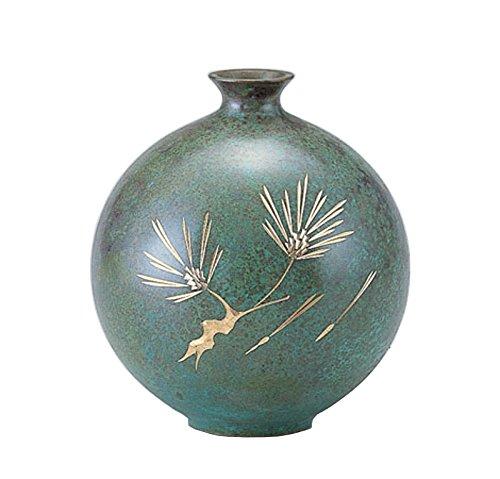竹中銅器 銅製花瓶 玉寿 松 107-51 B015JB70HA松