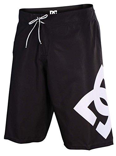 DC Mens Lanai 4 Way Stretch Board Shorts 30 Black White ()