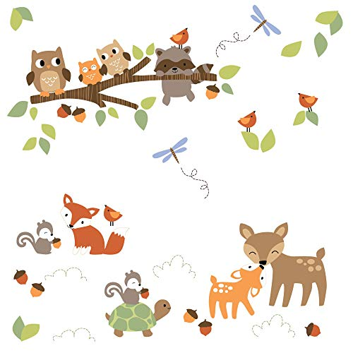 Wall Appliques Decals (Lambs & Ivy Woodland Tales Forest Animals Wall Decals/Appliques)