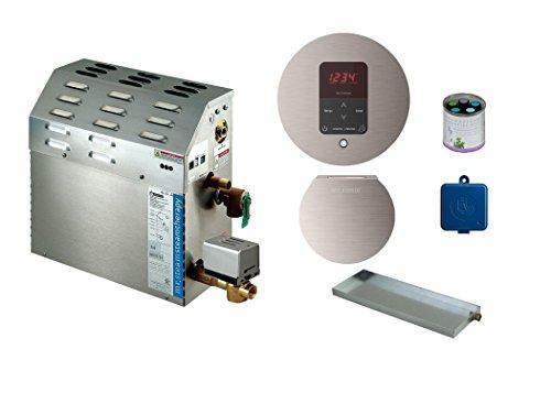 Generator Package - MrSteam MS-400-E Steam Bath Generator with Butler Package in Brushed Nickel