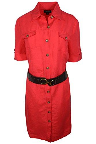 Buy belted linen dress - 9