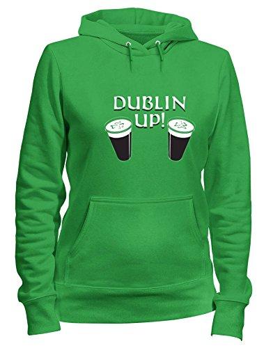 Felpa Verde DUBLIN BEER0054 Cappuccio UP Donna fqrfZRFxw