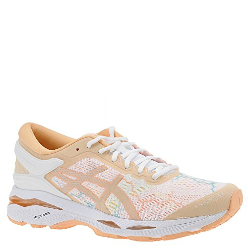 Control Running Shoes Motion Women (ASICS Women's Gel-Kayano 24 Lite-Show Running Shoes, 9.5M, White/White/Apricot Ice)