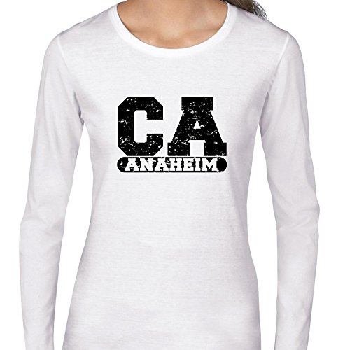 Hollywood Thread Anaheim, California CA Classic City State Sign Women's Long Sleeve -