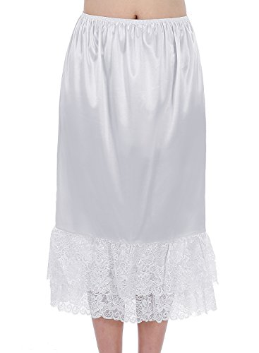 Find Dress Style-C Women Half Slip Flexible Underskirt With Lace Edging M - Find Style