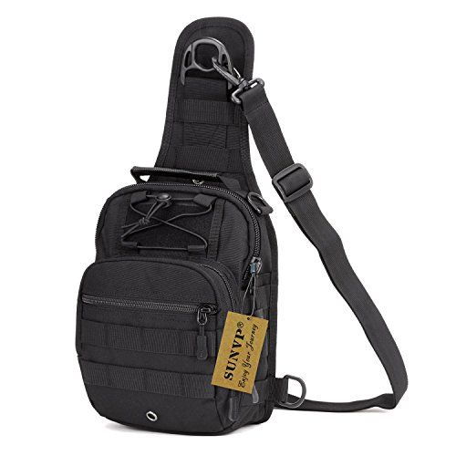 Huntvp Tactical Military Sling Chest Daypack Laptop