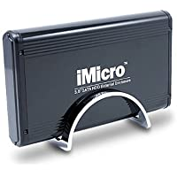 iMicro IM35SATABK 3.5 inch SATA to USB 2.0 External Hard Drive Enclosure (Black) (IM35SATABK)