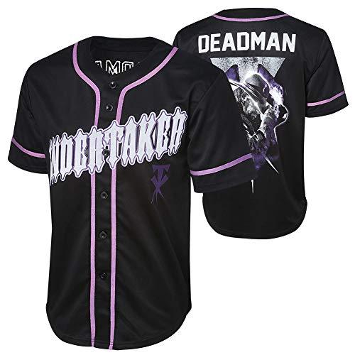 WWE Authentic Wear Undertaker Deadman Baseball Jersey Black/Purple Large