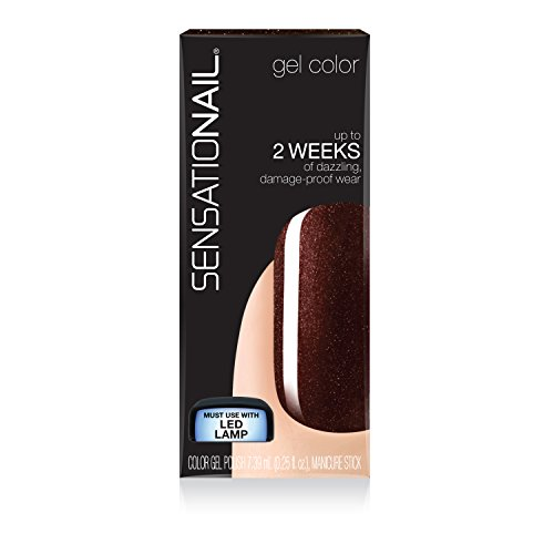 SensatioNail Gel Polish, Espresso Bean Brown, 0.25 Fluid Ounce (Pack of 36)