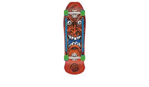 "Santa Cruz Skateboard Complete Roskopp Face Red 9.5/"" x 31/"" Old School"