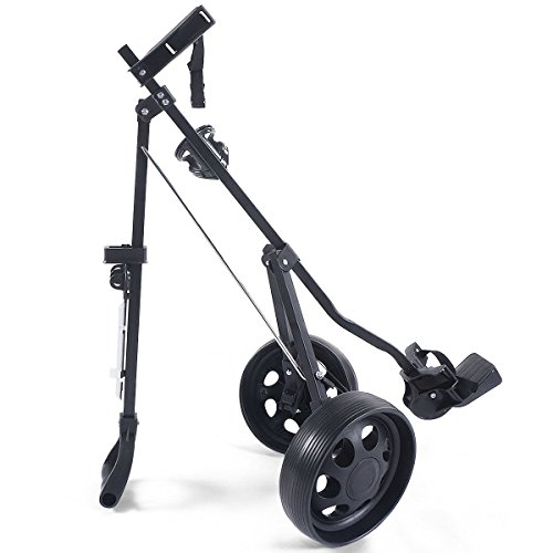 MD Group Golf Cart Holder Trolley Foldable 2 Wheels Push Pull Foldable Design Lightweight Equipment by MD Group (Image #7)