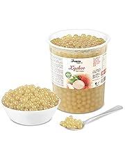 Popping Boba för bubbelté - Fruktpärlor, exploderande bubblor - grönt äpple - INGA konstgjorda färger - Mindre socker, riktig fruktjuice - 100 % vegan och glutenfri