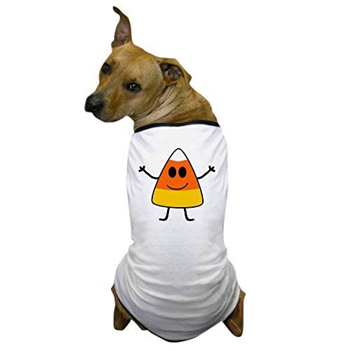 CafePress - Cute Candy Corn Halloween Dog T-Shirt - Dog T-Shirt, Pet Clothing, Funny Dog Costume (Cute Candy Corn Costumes)