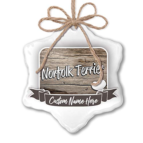(NEONBLOND Create Your Ornament Norfolk Terrier, Dog Breed Great Britain Personalized)