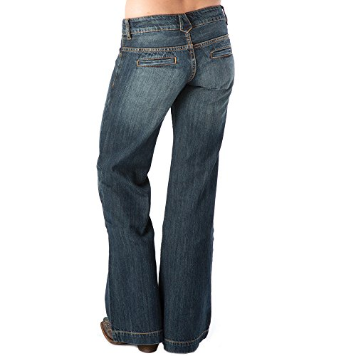 Stetson Women's 214 Fit City Dark Indigo Trouser Jeans Med Wash 10 R