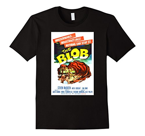 The Blob Costume (Mens The Blob Halloween T-Shirt Horror Sci Fi Tee Shirt Large Black)